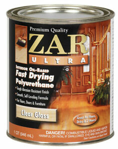 Zar Ultra 1QT Clear Gloss Oil Based Fast Polyurethane 32812 United Gilsonite Lab