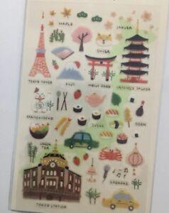 Japan Tokyo PVC stickers Holiday Japanese Travel Scrapbook Cardmaking diy