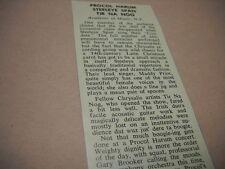 PROCOL HARUM Steeleye Span TIR NA NOG in concert NYC 1972 music biz promo review