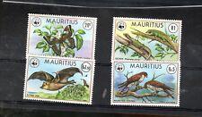 Mauritius Sc #469-72 Fox Kestrel Geckos Butterfly Mnh stamps