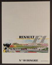 Graton Michel Vaillant pub Renault 10 Formule 1 Hongrie Budapest 1989