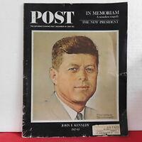 John F Kennedy The Saturday Evening Post Magazine In Memoriam December 14 1963!