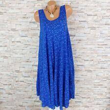 MADE IN ITALY Hängerchen Kleid Sommerkleid Blümchen Mille Fleur royalblau 40-44