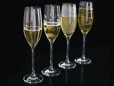 Set of 4 MIKASA Cheers CRYSTAL GLASS Champagne Flute Glasses
