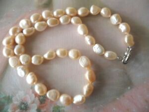 VINTAGE JEWELLERY BAROQUE PEARL NECKLACE ANTIQUE DECO JEWELRY PEARLS