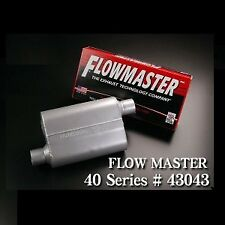 """Flowmaster 43043 40 Series Original Muffler 3"""" In and 3"""" Out  19"""" Long Siver"""
