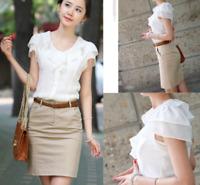 Summer Womens Chiffon Undershirts T Shirt Sleeveless Tunic Tops Blouse Shirt