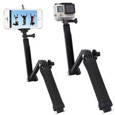 Three 3 way Selfie Handheld Stick Monopod Folding Holder for GoPro hero 5 4 3+ 3