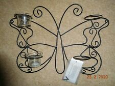 Decorative Butterfly Candle Holder with 4 off Glass Candle holders.
