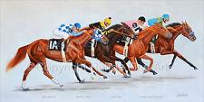 TRIPLE CROWN WINNERS horse racing ART Secretariat Slew Pharoah  KENTUCKY DERBY