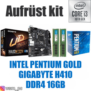 🅸🅽🆃🅴🅻 Pentium Gold G6400 ● H410 Mainboard ● 16GB RAM ● Intel Bundle Kit