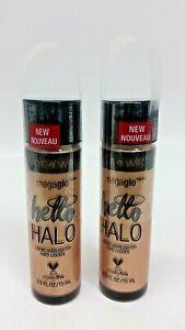 Lot 2 x WetnWild MegaGlo Hello Halo Liquid Highlighter #309B Goddess Glow SEALED