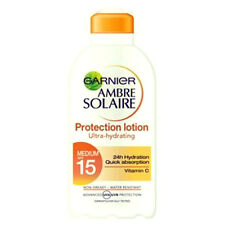 AMBRE SOLAIRE SPF 15 TANNING LOTION SUN CREAM TAN LOTION WATER PROOF SUN LOTION