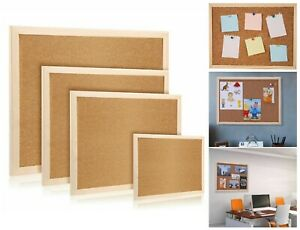 Single Side wooden Frame Message / Notice / Memo / Home / Office Cork Pin Board