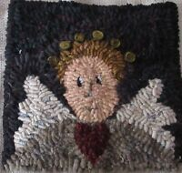 PRIMITIVE ANGEL~ RUG IN A DAY LINEN PATERN ~ PRIMITIVE RUG HOOKING