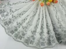 """9""""*1yard delicate  embroidered flower tulle lace trim for DIY 0163"""