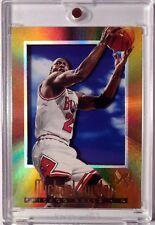 1996-97 Ex-2000 #9 Michael Jordan, Foil Insert, Refractor Like, Sharp, Acetate!