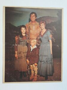 """FESS PARKER & HIS FAMILY - """"DANIEL BOONE"""" signed - POSTER TV - ARGENTINA 1960's"""