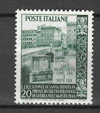 ITALIA 1949 Ricostruzione del Ponte di S. Trinità a Firenze **