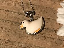 Recycled Broken Porcelain Jewelry, Goose/Duck Pendant