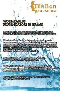 WORMER PLUS 10% FLUBENDAZOLE Aquarium Fish Tank Wormer Fluke & Parasite Killer