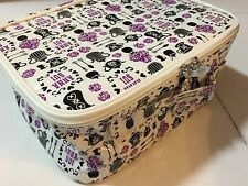 Anna Sui PVC motifs PVC white waterproof prints train pouch case bag NEW GWP