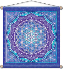 "Mandala Arts 30"" X 30"" Temple Banner ""Flower of Life"" (TB09)"