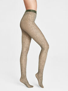 WOLFORD Net Reese Floral Lace Tights Size L Seamless Panty Section AW 2020/21