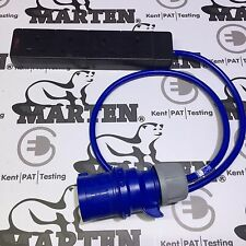 Marta ® 230v 32a PCE Enchufe 4 Gang Way Zócalo 13a Lead Cable 1m Gancho Azul