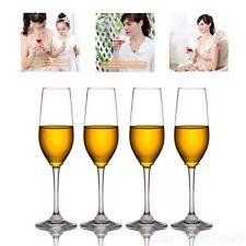 4 Party Champagne Flutes Plastic Wine Glasses Tritan Shatterproof Unbreakable