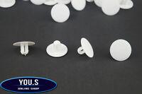 10 x Innenverkleidung Motorhaube Befestigung Clip für VW - 6448410 - Weiß White