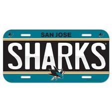 San Jose Sharks Plastic License Plate
