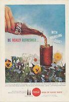 1959 Springtime Flowers COCA-COLA Antique Original Ad Coke Vintage Collectible