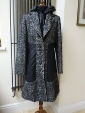 Designer Erich Fend Coat Jacket Black Wool Mohair Women's New without tag