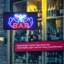 Super Bright Led Sign Board Pub Club Window Display Light Lamp Shop Bar Us Stock