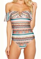 Becca by Rebecca Virtue NEW Pink Women Small S Print One-Piece Swimsuit New!