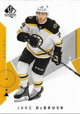 Boston Bruins - 2018-19 SP Authentic - Complete Base Set Team (3)