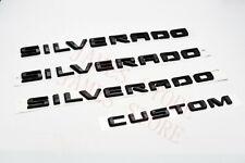 2019-2021 Silverado Door & Tailgate Silverado Custom Black Emblem 84300948