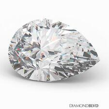 4.18 Carat E/I1/V.Good Cut Pear Shape AGI Earth Mined Diamond 14.31x9.17x5.47mm