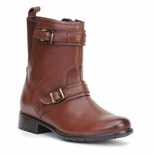 Clarks Women's Plaza City Brown Leather Boot