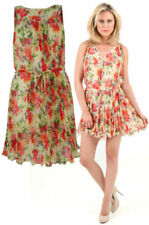 Cotton Floral Dresses for Women with Belt
