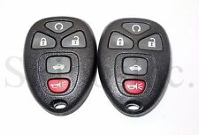 PAIR GM CHEVY IMPALA MONTE CARLO CADILLAC DTS BUICK LUCERNE KEYLESS REMOTE FOBS