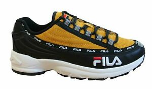 Fila DSTR97 S Mens Trainers Black Citrus Suede Leather Lace Up Shoes 1010712 12R