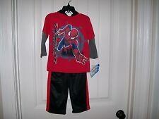 NEW! MARVEL THE AMAZING SPIDER MAN 2 BOYS 2 PC. PANTS SET SIZE 2T RETAIL $23.99