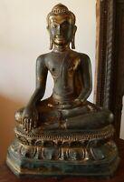 Bouddha Bhumisparsha Bronze Ancien Thailande Laos Birmanie Antique Buddha Statue