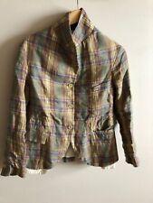 Paul Harnden Women's Checked Linen Jacket size S