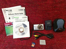 Canon PowerShot SD1100 IS Digital Camera in Box w/ Accessories - Tested & Works
