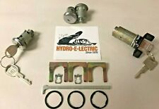 1979-1991 Impala/Caprice- Black Ignition + Stainless Steel Door & Trunk Lock Set