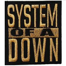 System of a Down heavy metal punk rock band Iron On Patches Gold # WITH FREE GIF