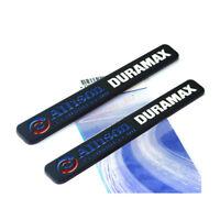 2x OEM Black ALLISON DURAMAX EMBLEM GM SILVERADO 2500HD 3500HD Genuine Y White